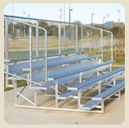softball bleachers and benches