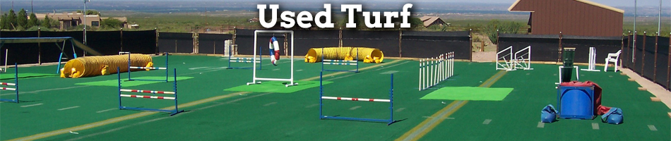 used artificial turf