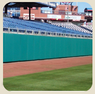 outdoor stadium padding and backstop padding