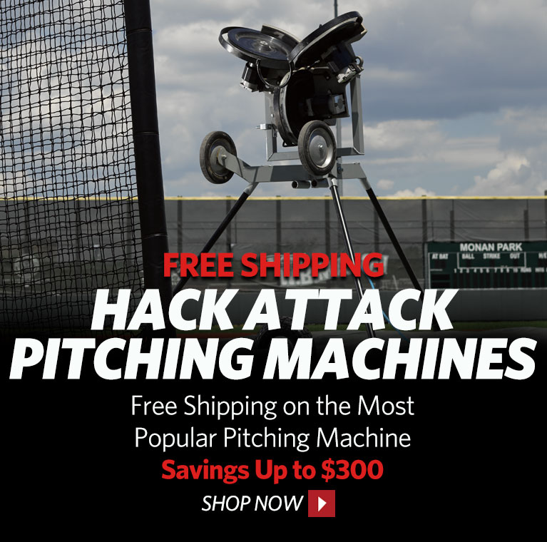 Free Shipping on Hack Attack Pitching Machines