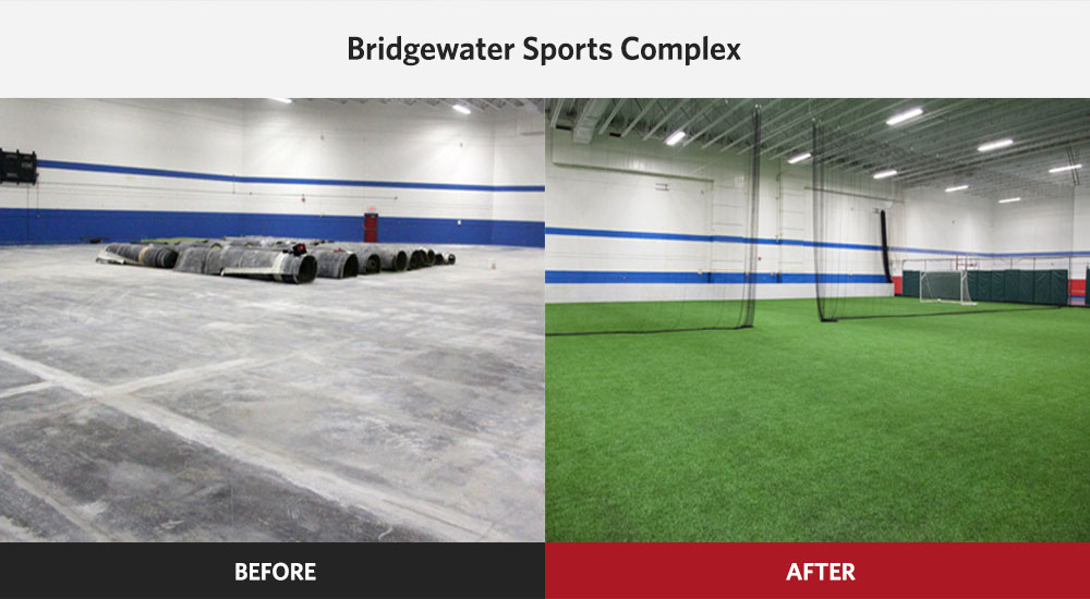 Bridgewater Sports Complex - The Dome - Indoor Facility Design before and after