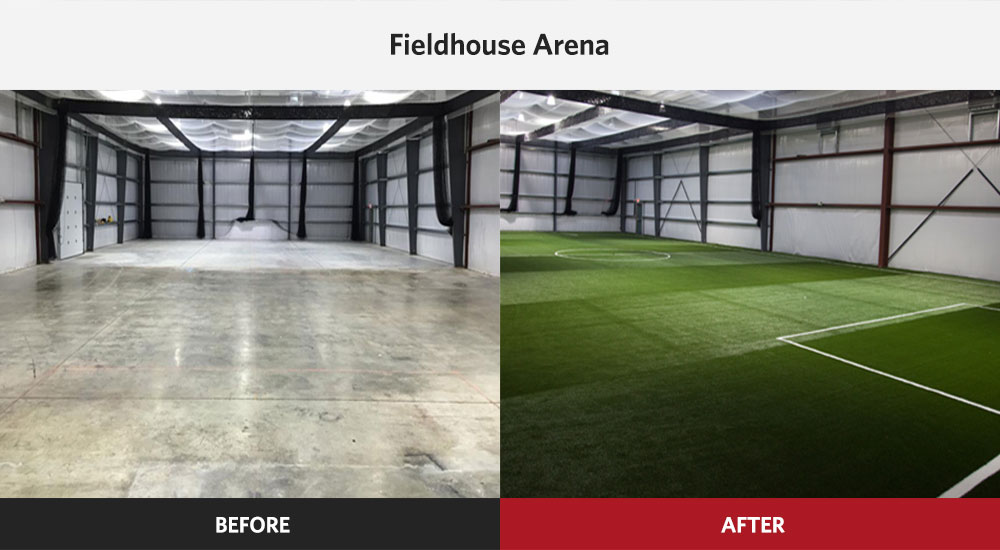 The Fieldhouse Arena Indoor Sports Complex Before And After