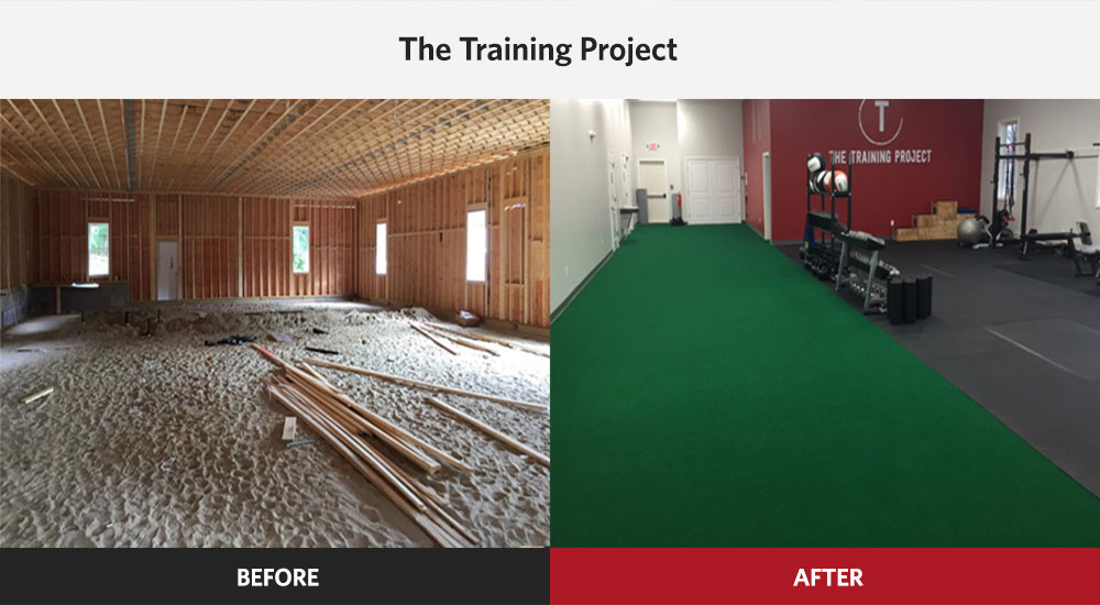The Training Project Strength & Conditioning Gym before and after