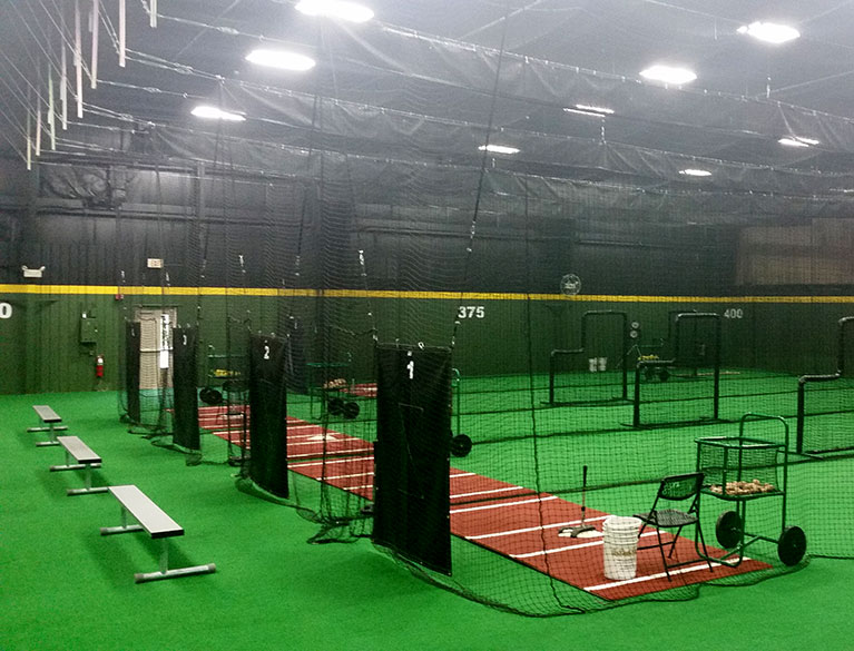 Indoor sports facility design on deck sports for Design indoor baseball facility