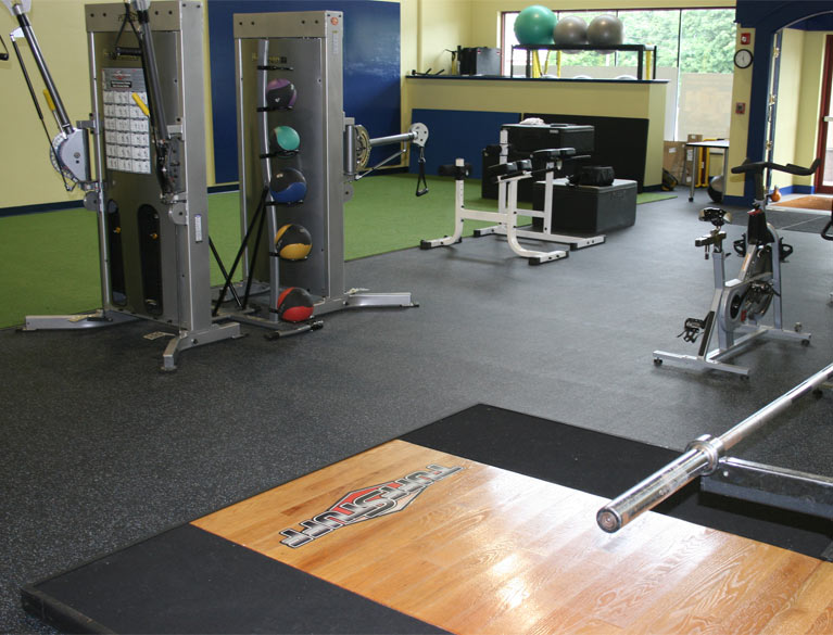 McGovern Physical Therapy Fitness Turf & Rubber Flooring