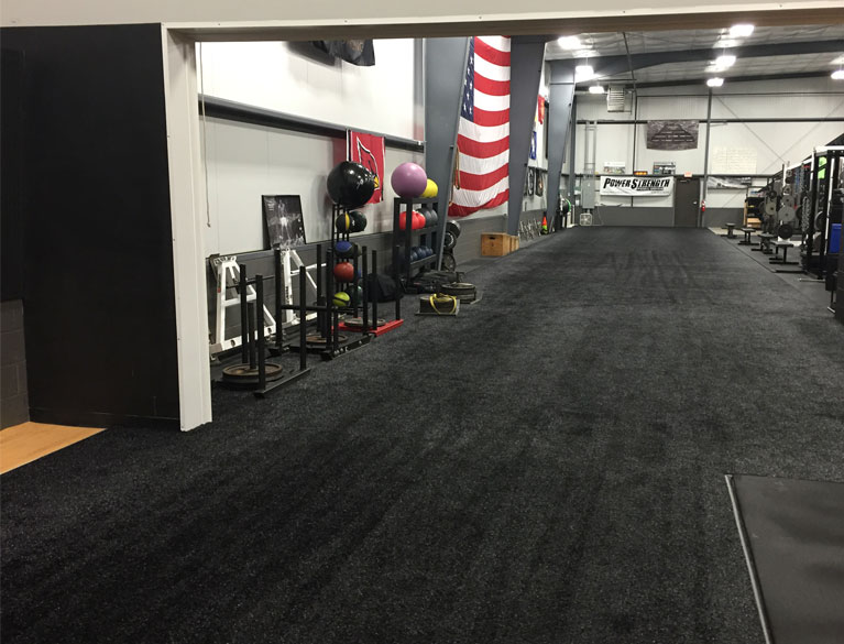 PowerStrength Training Systems Black Athletic Turf