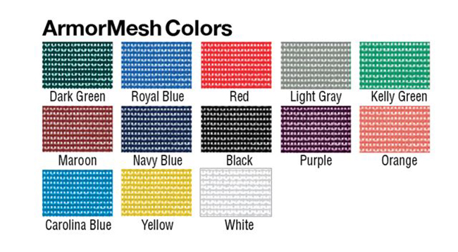 Armor Mesh Color Chart